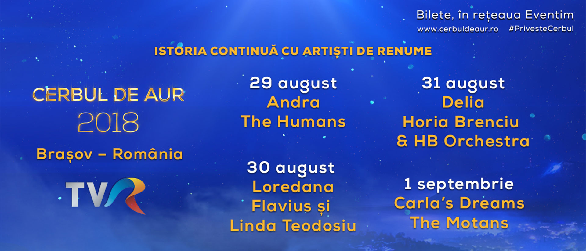Concert romanian singers and bands, Cerbul de Aur 2018